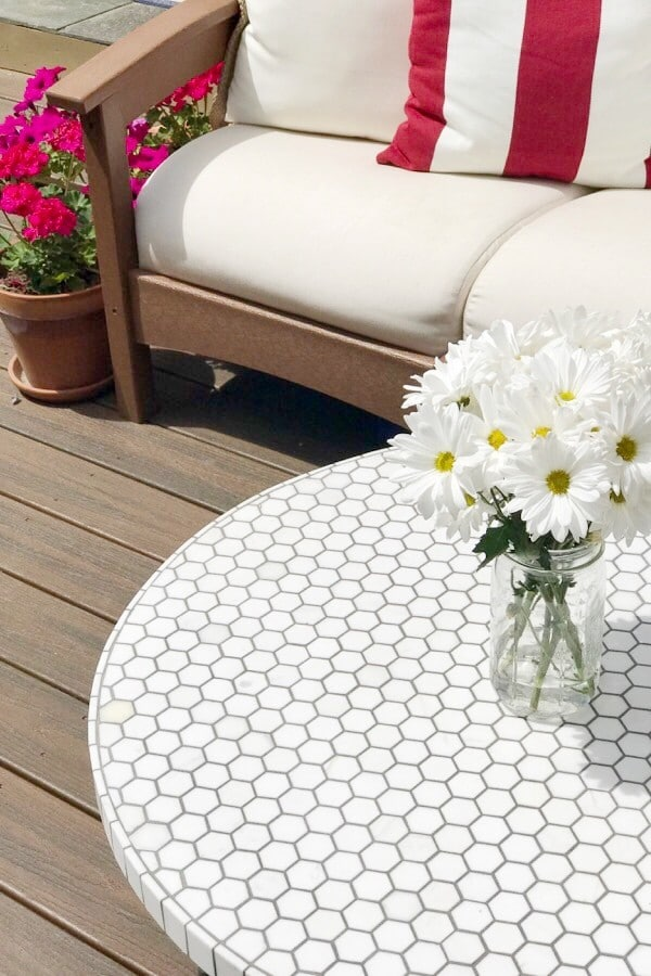crate and barrel round outdoor coffee table