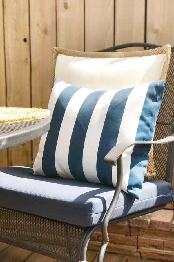 striped outdoor pillows