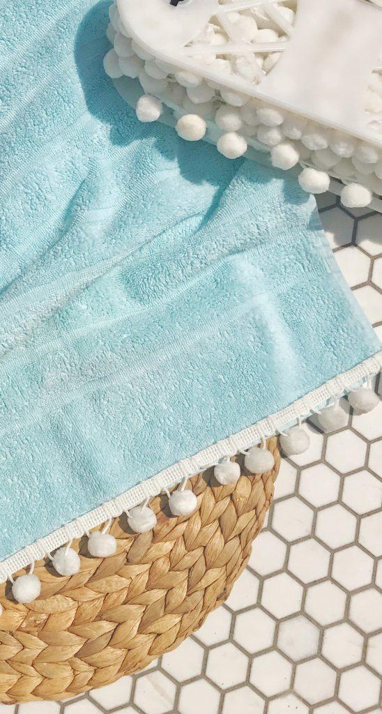 DIY Crafts   How to Make a Pom-Pom Towel   Decorhint.com