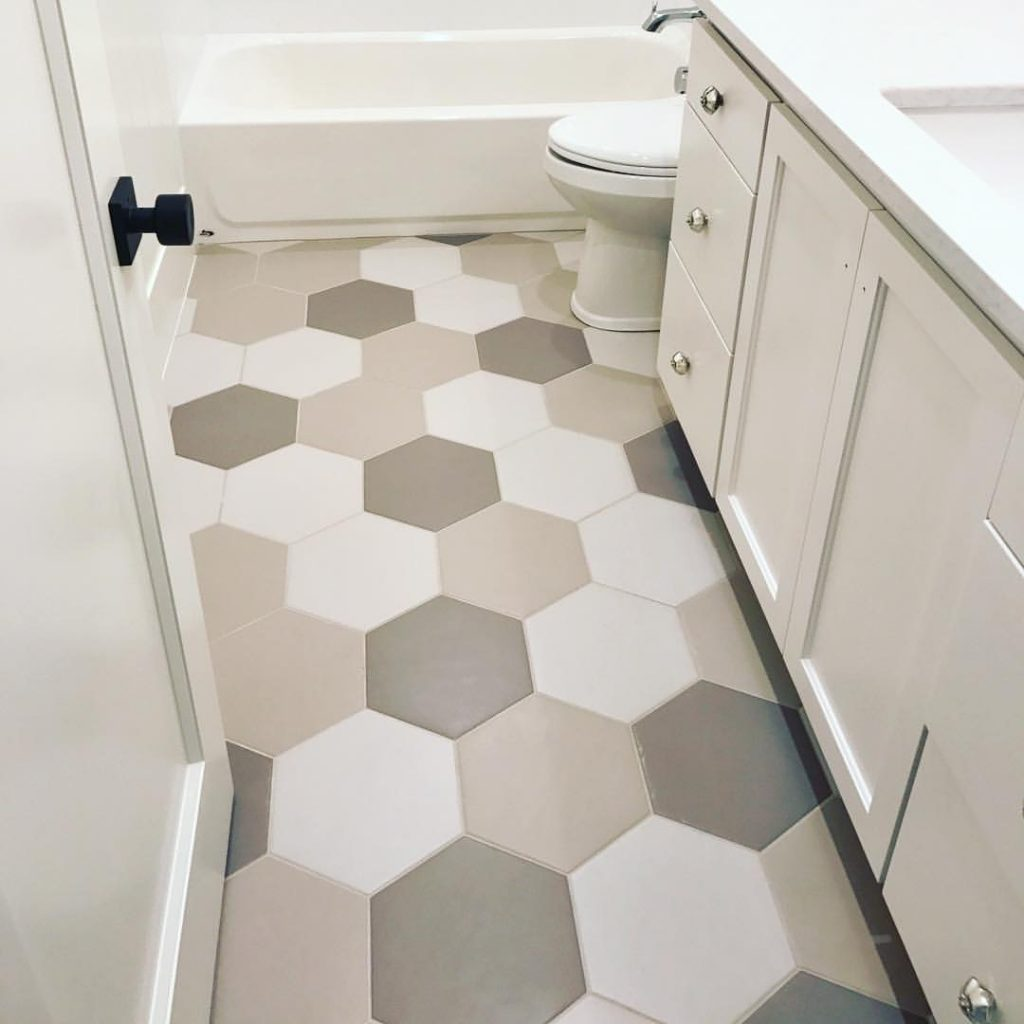 Hexagon Tile Designs for your Bathroom