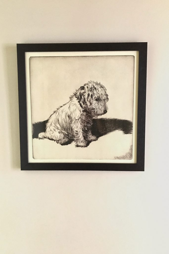 Wheaten Terrier Dog Artwork from Ballard Designs