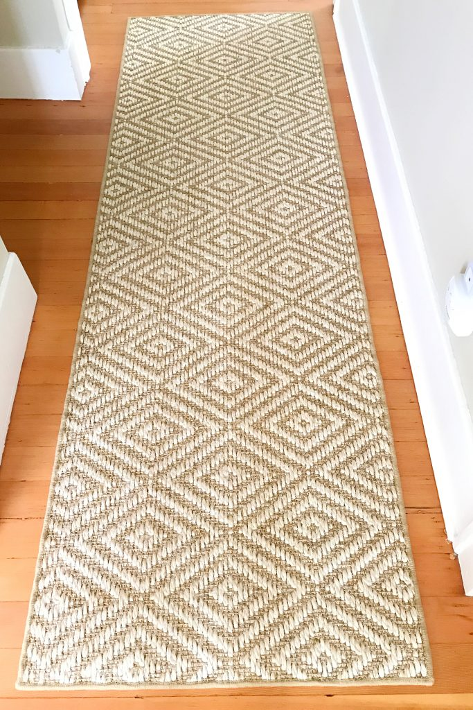 jute rug from Ballard Designs with diamond pattern