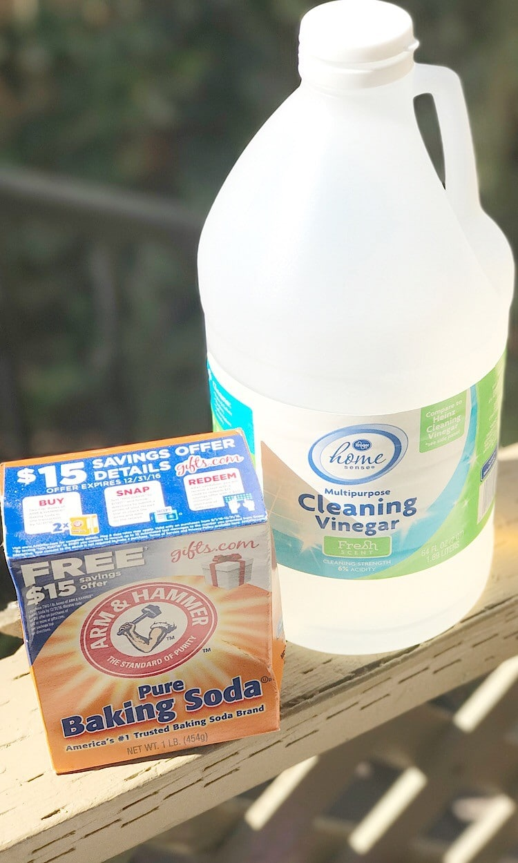 Use vinegar and baking soda to clean your toilet bowl.