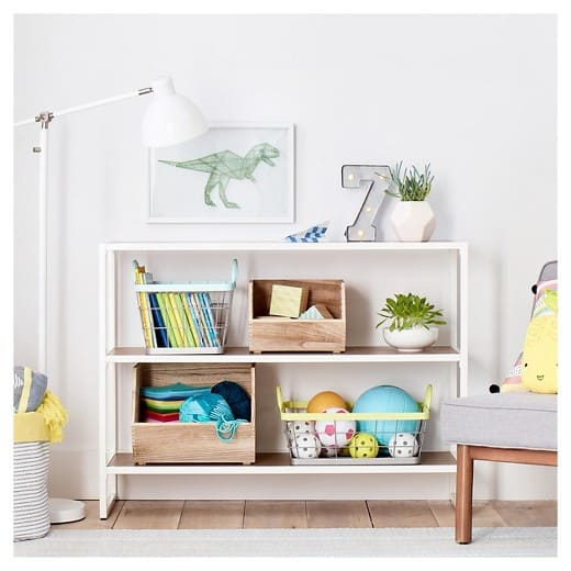 Playroom Design Ideas - use open shelving and cube style storage