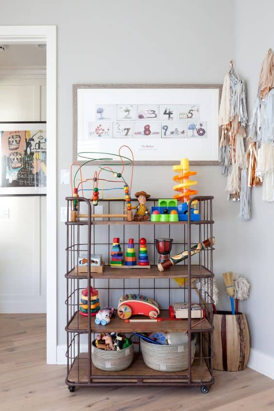 Display beautiful wooden toys as decor