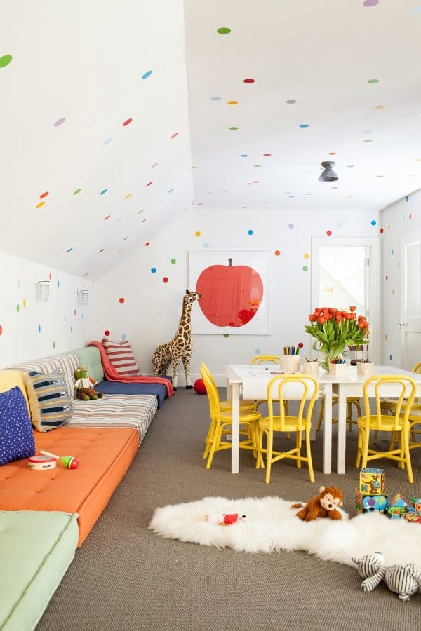 use fun wall decals for a playroom