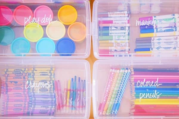 organize kids arts and crafts ideas