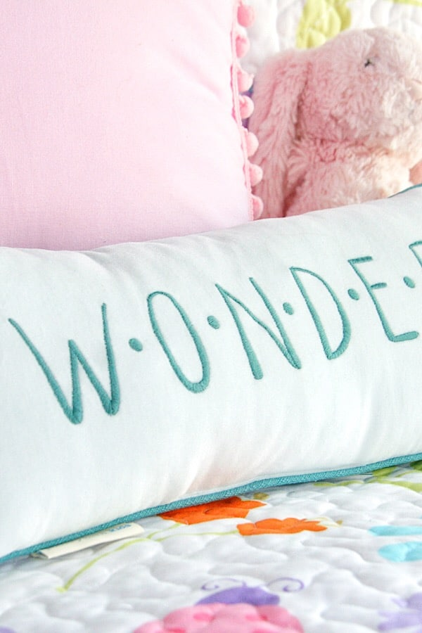Pillows on a Bed - Girls Room Decor