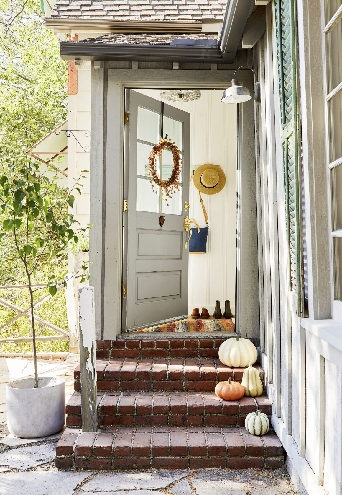 Beautiful Fall Wreath on Door, from Target