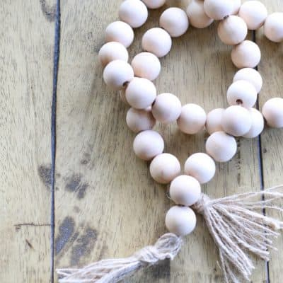 DIY : Wood Bead Garland that will Instantly bring Texture to your Decor