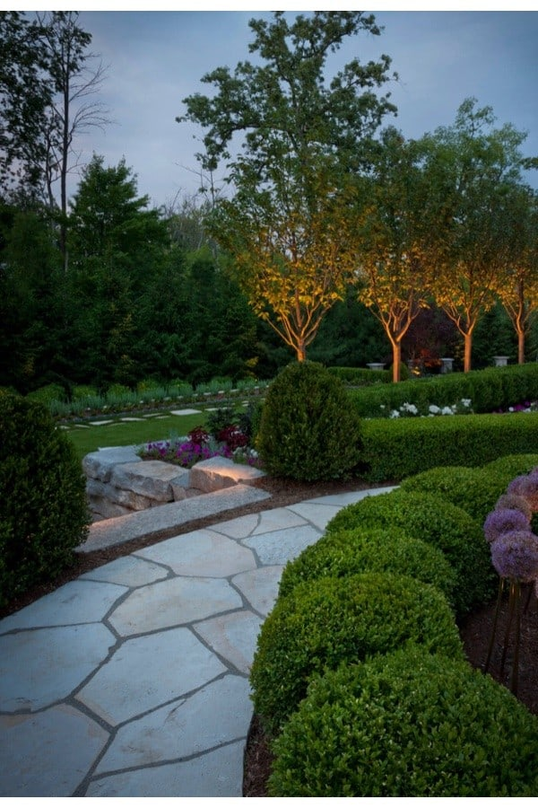 Uplighting in landscaping