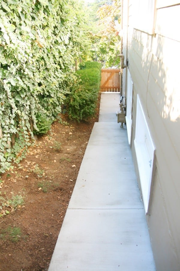 Before and After - Concrete Walkway Project - Hey guys!  I'm excited to share a progress update on our concrete walkway. It definitely has made a world of difference on the side of our house.