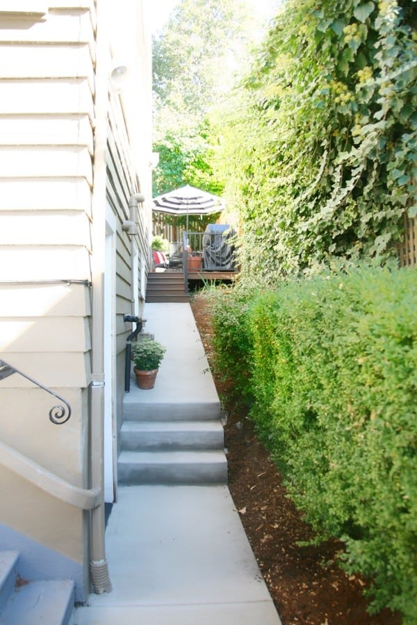 Our new concrete sidewalk and why we chose concrete for our project