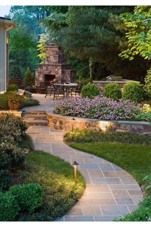 Our Concrete Walkway Project and Inspiration for your Landscaping