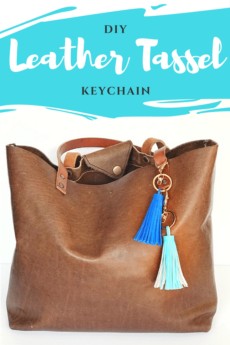 DIY: A One Minute Stylish Leather Tassel Keychain