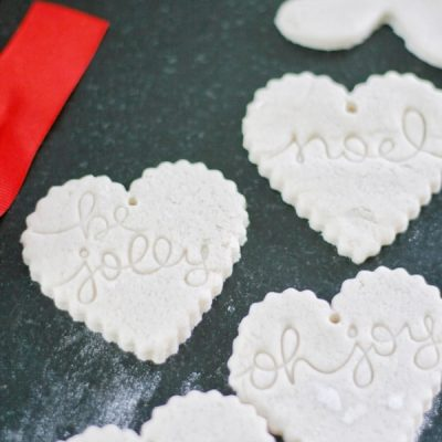 DIY:  How to Make Salt Dough Ornaments Three Creative Ways
