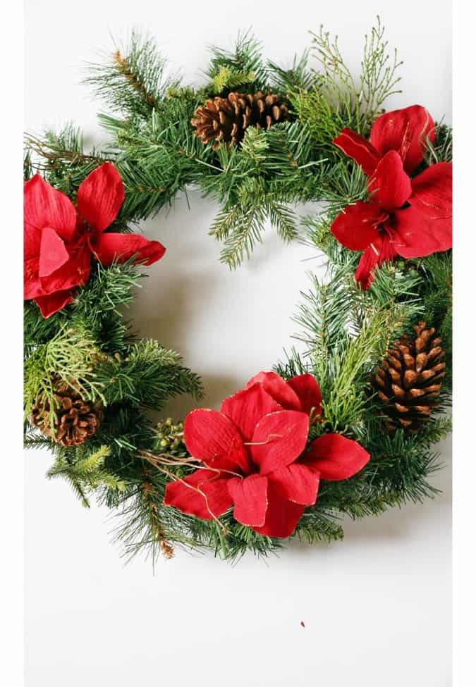 Remove what you don't want from your old wreath