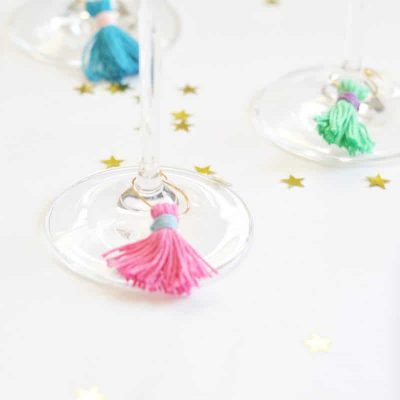 DIY Wine Charms with Tassels :  Easy and Fun!