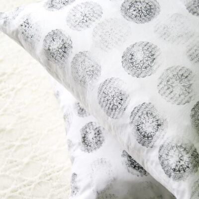 DIY Block Print Pillow Cover