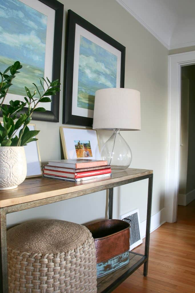Sneak Peek Home Tour : Entry console table