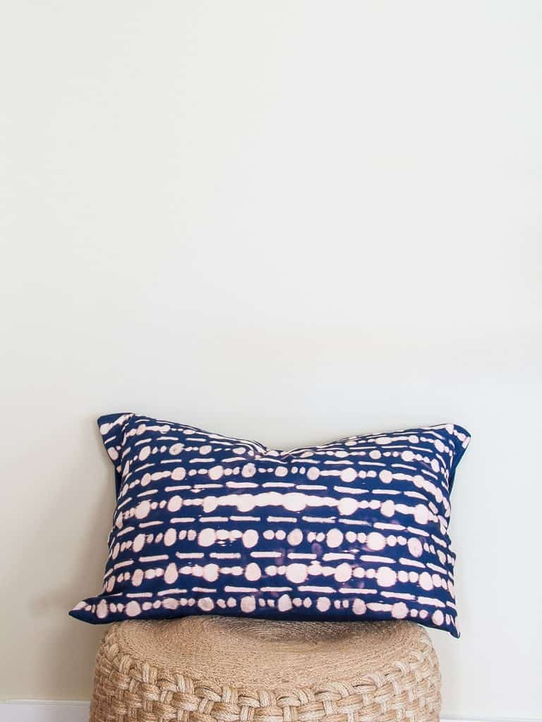 DIY Vintage Bleach Dot Pillow