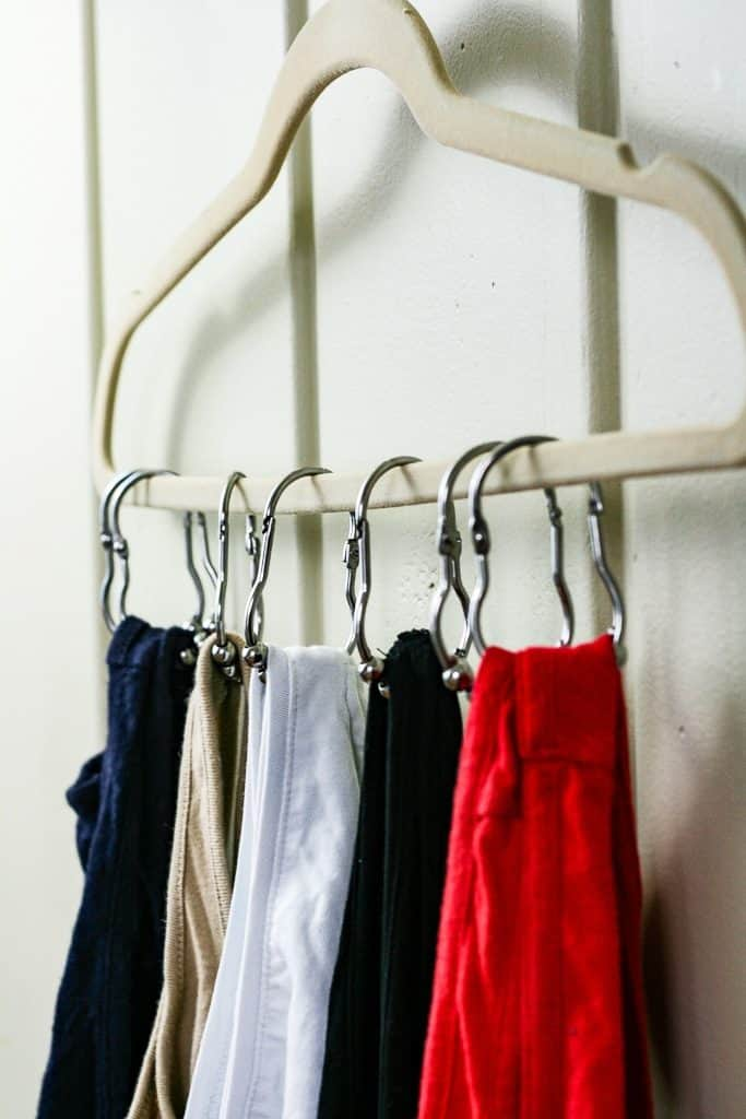 A hanger hack for your tank tops - get them organized with this simple trick!