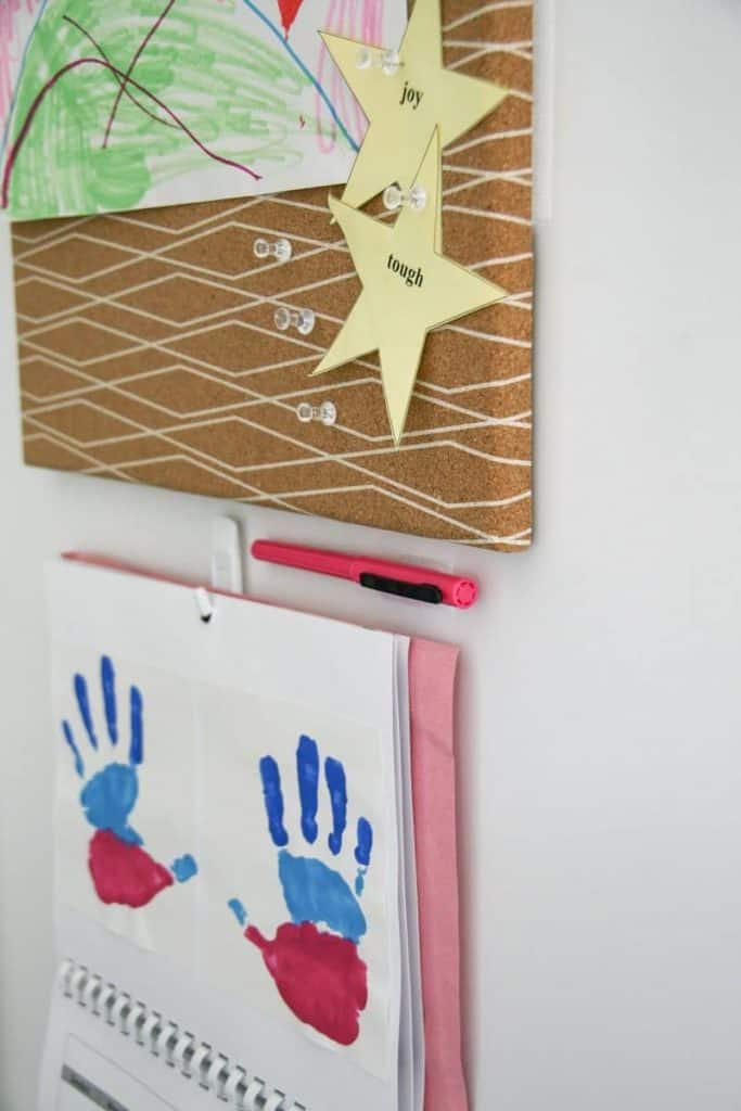 How to Set up a Home Command Center - with Velcro! Plus Ideas for Kids Artwork