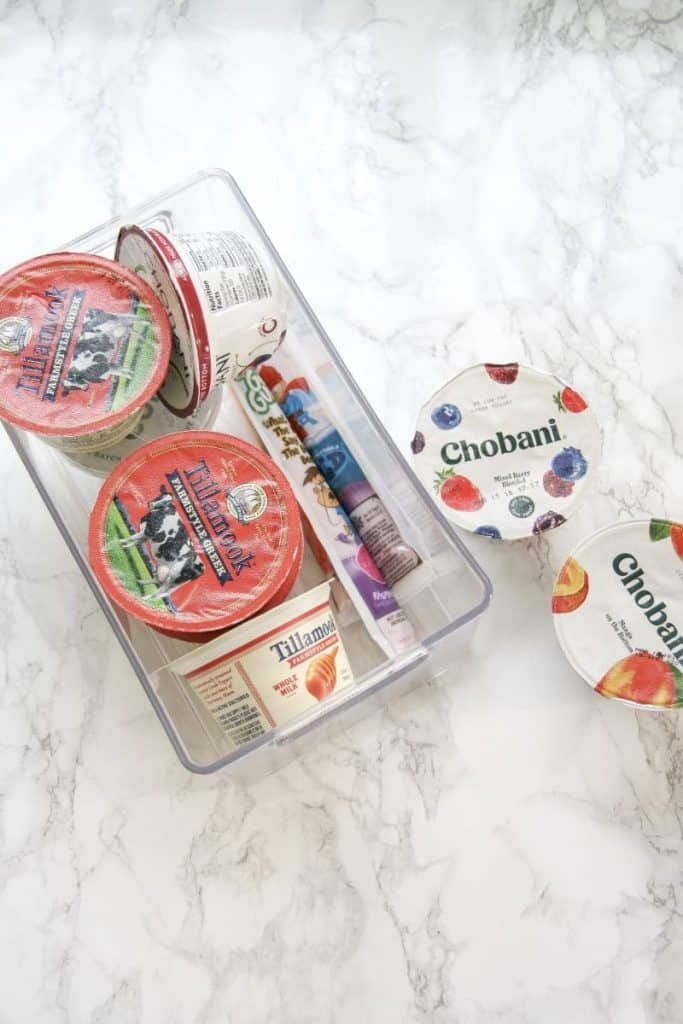 acrylic organizer for yogurts