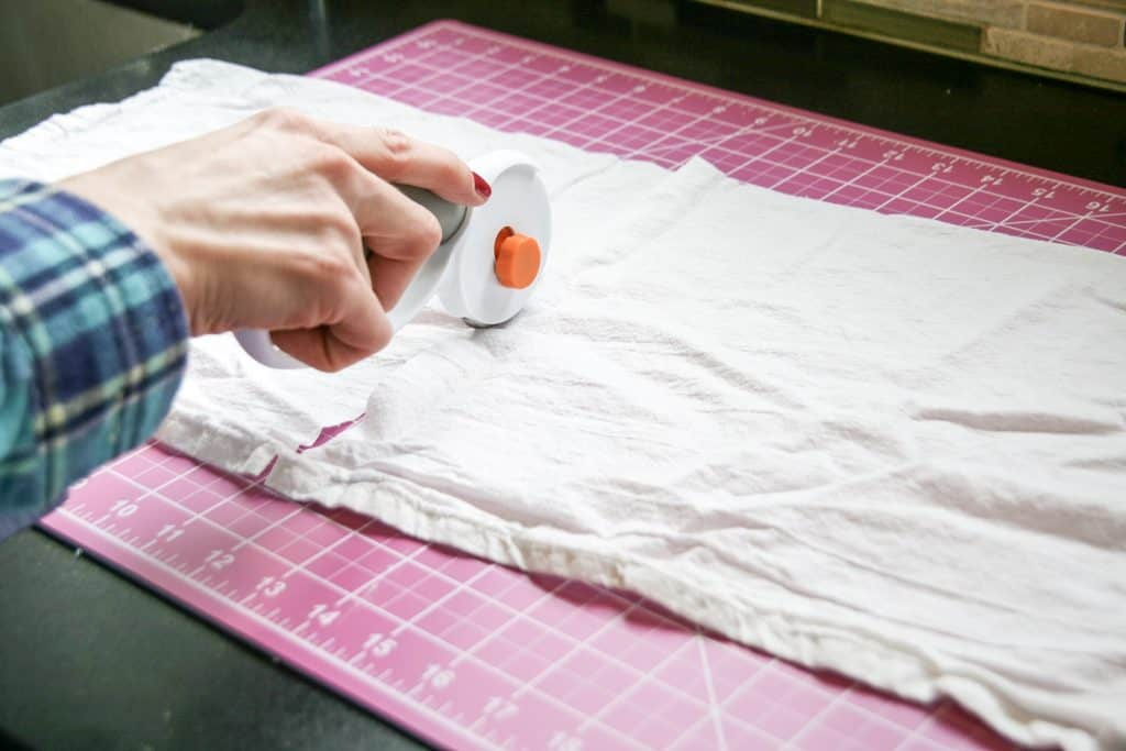 Cutting Cloth to make napkins