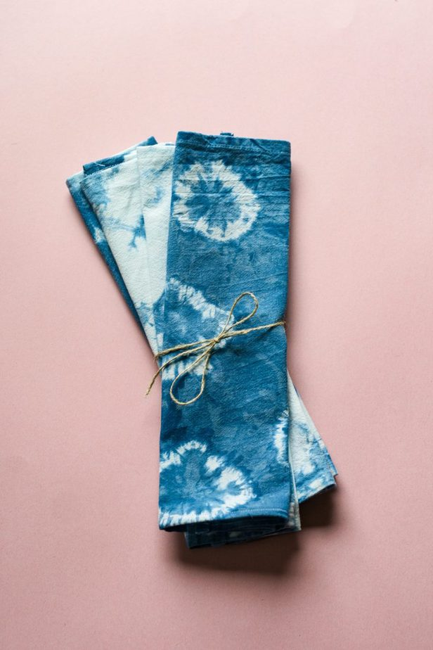 DIY Shibori Style Cloth Napkins