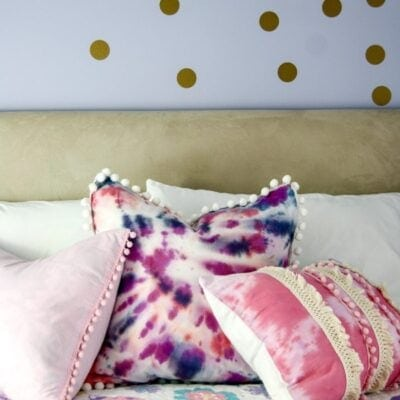 DIY Tie-Dye Pillows