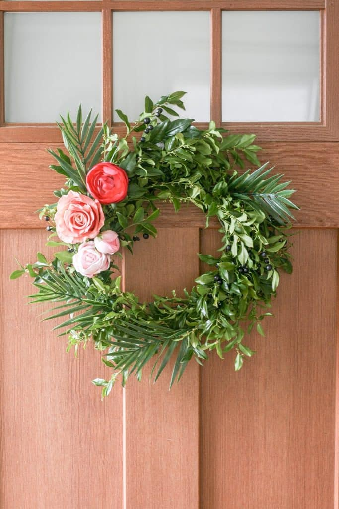 DIY Spring Wreath - easy to make and adds the perfect touch for Spring!