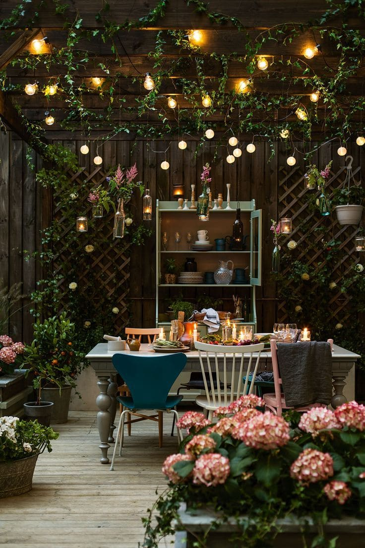 These dreamy patios will give you lots of inspiration for decorating your own outdoor spaces.From beautiful plants and flower ideas to gorgeous outdoor accessories and furnishings, you are sure to find something you love here!