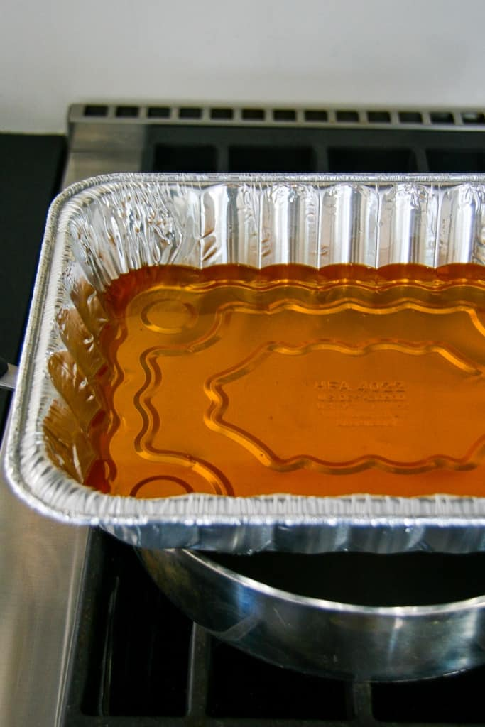 Let beeswax and oil melt in your pan