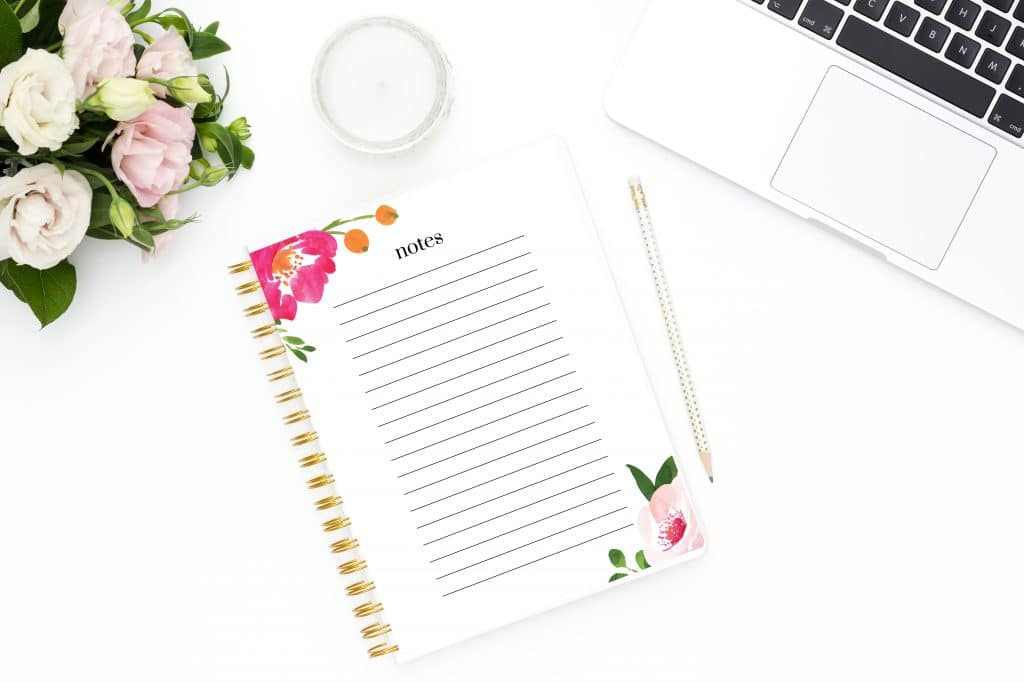 free printable floral to do list and notes decor hint