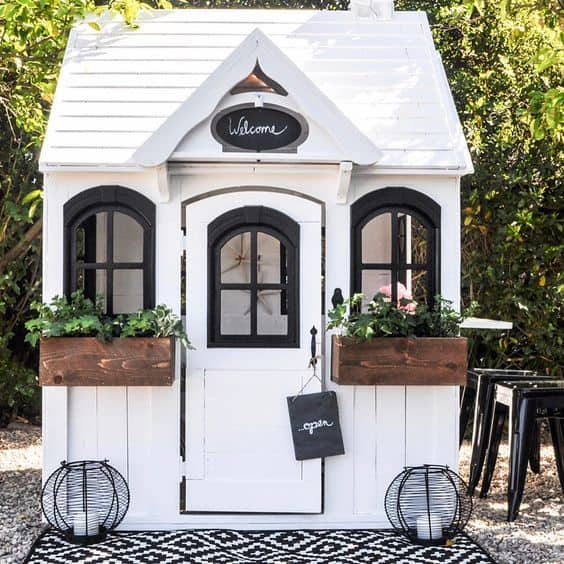 White Playhouse for Children