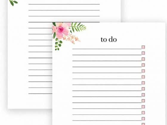 Free printable floral to do lists and notes!  Do you love having a pretty to do list and note sheet too?  Simply download and print this pretty floral to do list and note sheet.  Print as many copies as you like!
