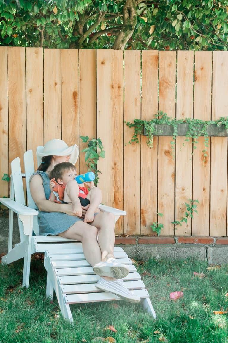 Spray Painted Wooden Adirondack Chairs :  Full Tutorial!