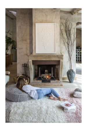 machine washable rug in front of fireplace - Lorena Canals