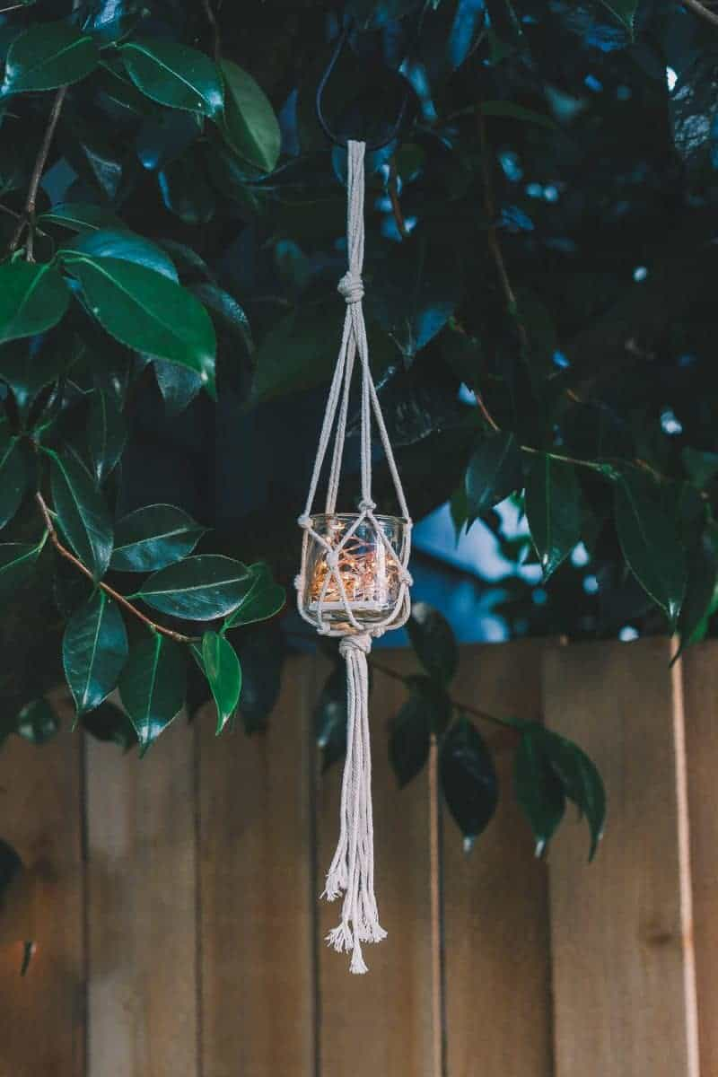 Diy Macrame Jar Hanger You Can Make In 5 Minutes Decor Hint