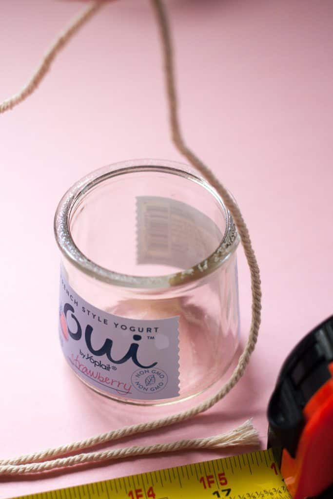 Use old yogurt jars