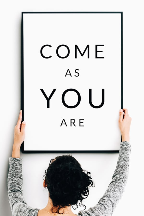 Come As You Are Free Printable Wall Art. Print and Frame! #printable #printables #walldecor #homedecor