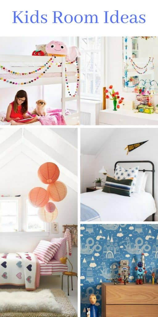 There is something so fun and liberating about decorating a kids room.  You can go wild with colors and patterns.  You can use toys as decor.  Make it whimsical and romantic.  Or make it masculine and modern.  They all work in their own special way. Check out these amazing kids room ideas