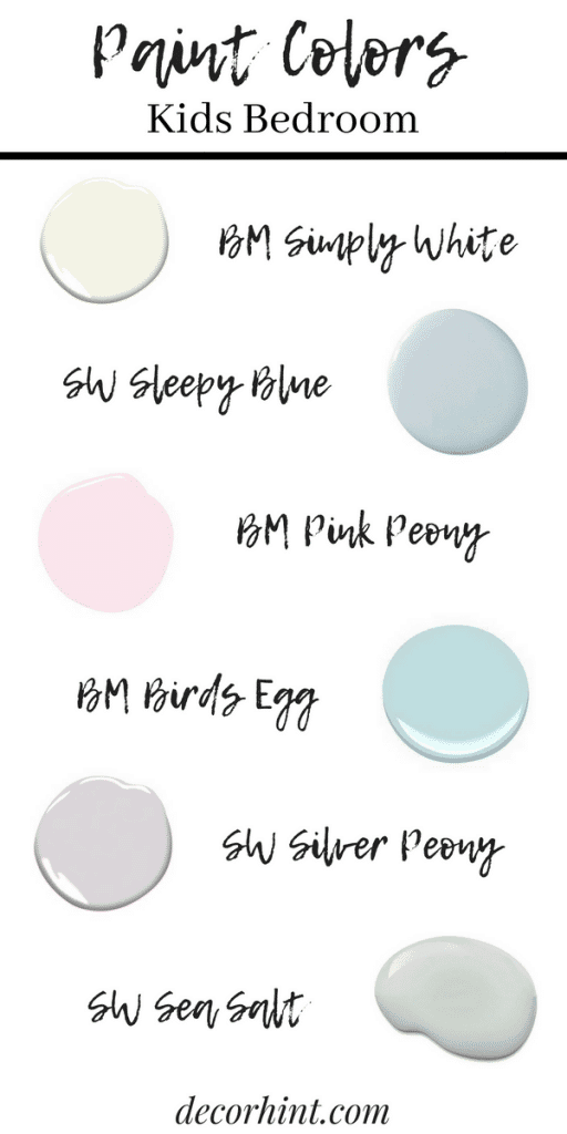 Popular Paint Colors for Kids Rooms! Soothing, calming and oh so pretty.
