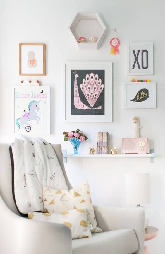 Quirky Gallery Wall for Kids