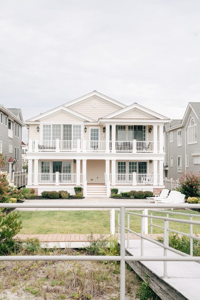 Beach Town Curb Appeal. Check out these beautiful beach homes from Ocean City, NJ. | beach pictures | beach decor | beach cottages | beach house exterior #beach #outdoor