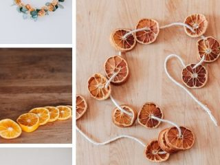 Easy DIY Dried Orange Garland - Easy tutorial for making a beautiful dried orange garland.  It also includes ideas for decorating with your new citrus garland.