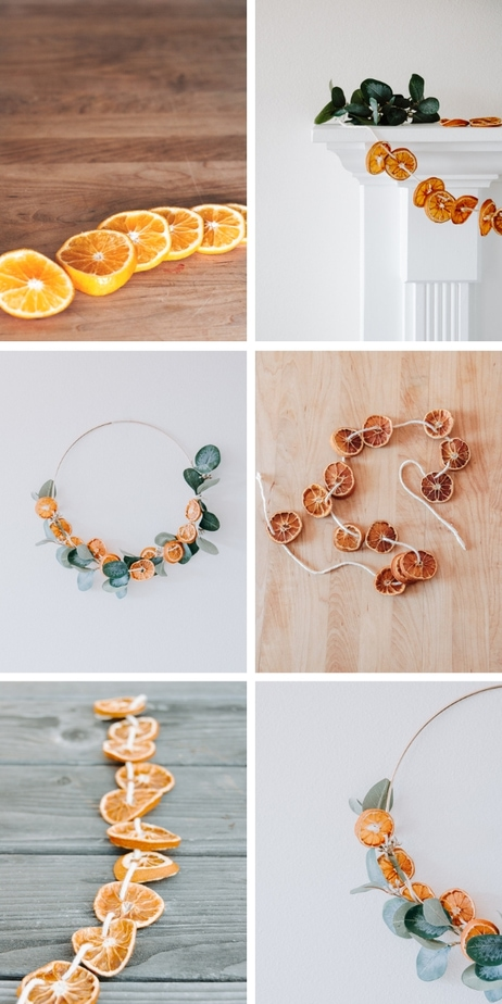 Easy Diy Dried Orange Garland Decor Hint