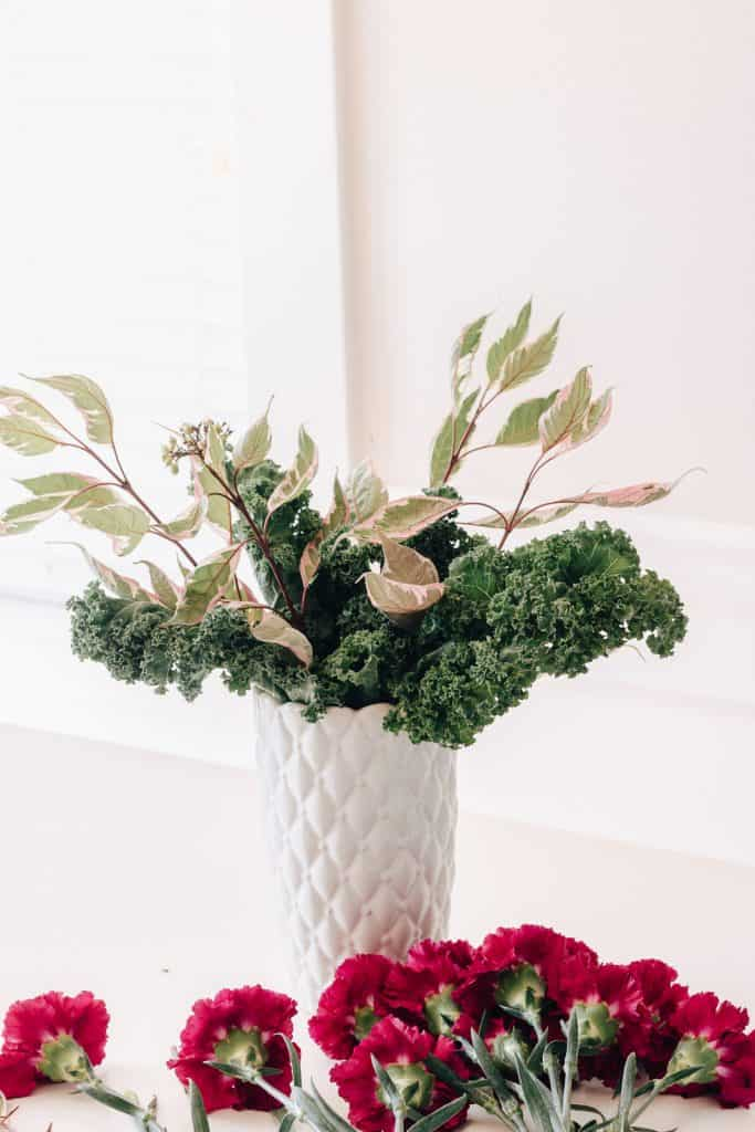 Greenery in a vase