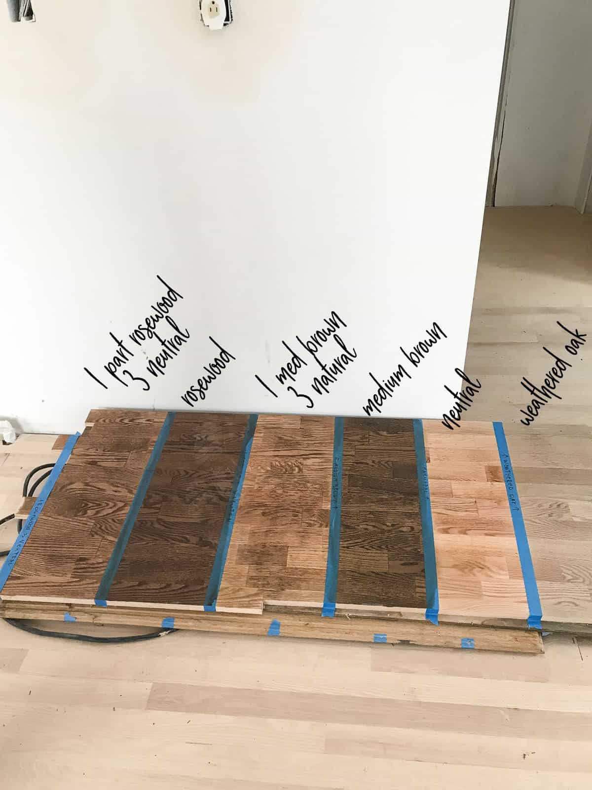 Red Oak Floor Stains Photo Guide